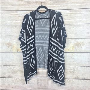 Zara poncho style sweater with side buttons